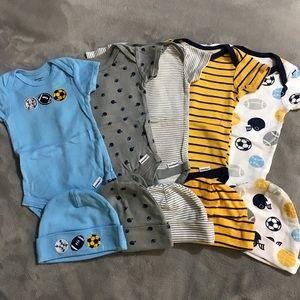 Gerber 0-3M Baby Boy Onesie Set